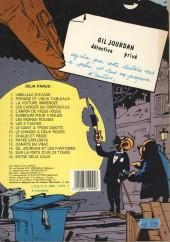 Verso de Gil Jourdan -15a1983- Sur la piste d'un 33 tours