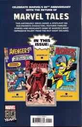 Verso de Marvel Tales Featuring (Marvel Comics - 2019) - Avengers # 1