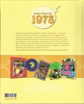 Verso de Mes souvenirs en BD -34- Année de naissance 1973