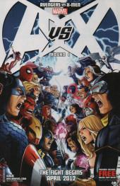 Verso de Avengers vs X-Men (2012) -0B- Program guide