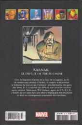 Verso de Marvel Comics - La collection (Hachette) -154116- Karnak : le défaut de toute chose