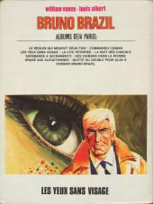 Verso de Bruno Brazil -3c1978- Les yeux sans visage