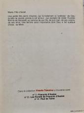 Verso de Vivants témoins -3- Marie Fille d'Israël
