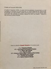 Verso de Vivants témoins -7- Charles de Foucauld