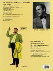 Verso de Blake et Mortimer (Les Aventures de) -2c2007- Le Secret de l'Espadon - Tome 2