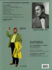 Verso de Blake et Mortimer (Les Aventures de) -7c2007- L'Enigme de l'Atlantide