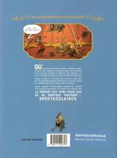 Verso de Spectaculaires (Une aventure des) -1HC- Le cabaret des ombres