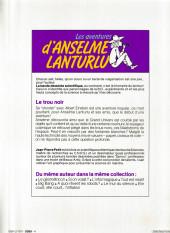 Verso de Anselme Lanturlu (Les aventures d') -4a- Le Trou Noir