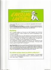 Verso de Anselme Lanturlu (Les aventures d') -6a- Big Bang