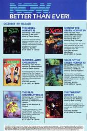 Verso de Kato of the Green Hornet (NOW Comics - 1991) -3- Issue # 3