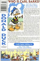 Verso de Uncle $crooge (3) (Gladstone - 1986) -218- Issue # 218