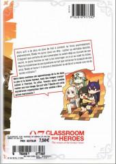 Verso de Classroom for Heroes -7- Un secret bien gardé ?