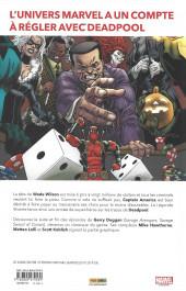 Verso de Deadpool - Détestable Deadpool -3- L'Univers Marvel massacre Deadpool