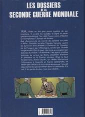Verso de Les dossiers de la seconde guerre mondiale -2- Tome 2 - 1939