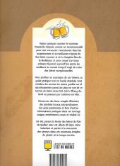 Verso de Bière dessinée - Le guide BD des microbrasseries de l'Est du Québec