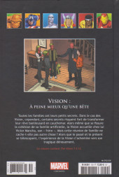 Verso de Marvel Comics - La collection (Hachette) -159120- Vision : A peine mieux qu'une bête
