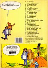 Verso de Tif et Tondu -8a1983- La villa du long-cri