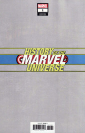 Verso de History of the Marvel Universe (Marvel comics - 20) -1VC- Issue # 1