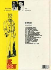 Verso de Luc Orient -17- Les spores de nulle part