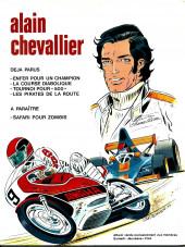Verso de Alain Chevallier -4'- Les Pirates de la route