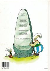 Verso de Astérix -29a2001- La rose et le glaive