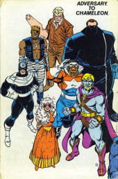 Verso de Official Handbook of the Marvel Universe Vol.3 - Update'89 (1989) -1- Adversary To Chameleon