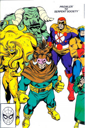 Verso de Official Handbook of the Marvel Universe Vol.3 - Update'89 (1989) -6- Prowler To Serpent Society