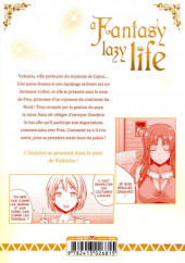 Verso de A Fantasy lazy life -6- Volume 6