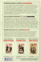 Verso de Mind MGMT -2- Espionnage mental et son incidence collective - Rapport d'opérations 2/3