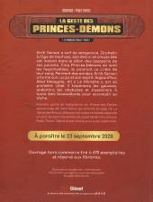 Verso de La geste des Princes-Démons -1HC- Le Prince des étoiles
