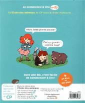 Verso de Je commence à lire en BD : CP -5- Un bébé à l'école