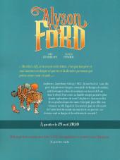 Verso de Alyson Ford -1HC- Le temple du jaguar