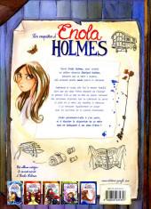 Verso de Les enquêtes d'Enola Holmes -1a2020- La double disparition