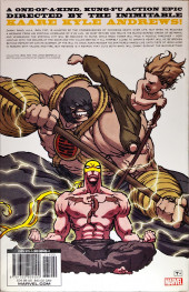 Verso de Iron Fist: The Living Weapon Vol.1 (Marvel comics - 2014/2015) -INT01- Complete collection