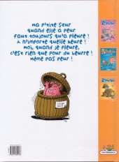 Verso de Les ripoupons -3- Même pas peur !