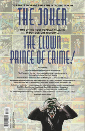 Verso de The joker: 80 Years of the Clown Prince of Crime - 80 years of the clown prince of crime the deluxe edition