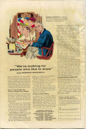 Verso de Fantasy Masterpieces Vol.1 (Marvel comics - 1966) -8- Issue # 8