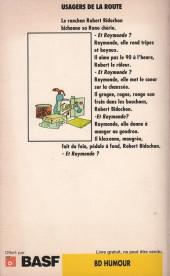 Verso de Les bidochon -10Pub- Les Bidochon usagers de la route