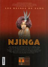 Verso de Les reines de sang - Njinga, la lionne du Matamba -1- La lionne du Matamba - 1/2