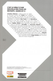 Verso de Dawn of X -1- Volume 01