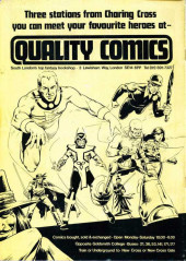 Verso de Warrior (Quality comics - 1982) -5- Issue # 5