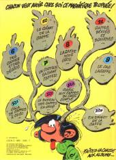 Verso de Gaston -12a1978- Le Gang des Gaffeurs