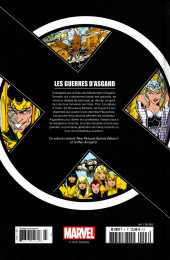 Verso de X-Men - La Collection Mutante -322- Les guerres d'Asgard