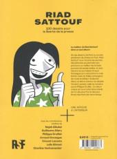 Verso de (AUT) Sattouf - 100 dessins pour la liberté de la presse