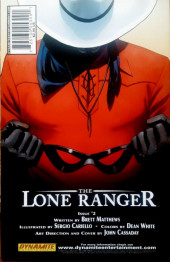 Verso de Lone Ranger Vol.1 (The) (Dynamite - 2006) -1- Issue # 1