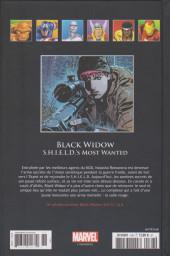 Verso de Marvel Comics - La collection (Hachette) -168132- Black Widow - S.H.I.E.L.D.'s Most Wanted