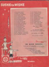 Verso de Suske en Wiske -44- DE WILDE WELDOENER