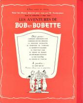Verso de Bob et Bobette -10'- Le joueur de Tam-Tam