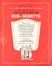 Verso de Bob et Bobette -8- Les Pêcheurs d'étoiles
