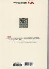 Verso de Les grands Classiques de la BD Historique Vécu - La Collection -28- Giacomo C. - Tome VI : La Bague des Fosca